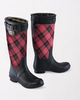 HERITAGE TARTAN TALL BOOTS, SCARLET CUNNINGHAM, large