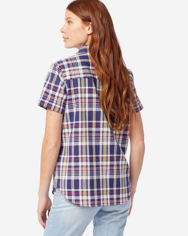ALTERNATE VIEW OF WOMEN'S SHORT-SLEEVE SEASIDE SHIRT IN NAVY/RED
