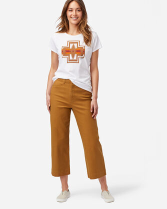 ALTERNATE VIEW OF WOMEN'S HIGH-WAISTED CROPPED PANTS IN PEANUT