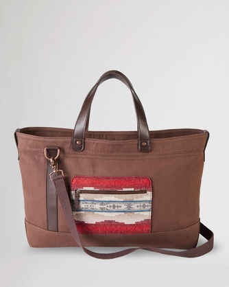 ALTERNATE VIEW OF ALAMOSA OVERNIGHT BAG IN BROWN