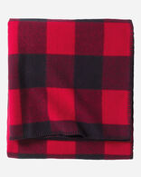 ECO-WISE WOOL PLAID/STRIPE BLANKET IN ROB ROY TARTAN FOLDED