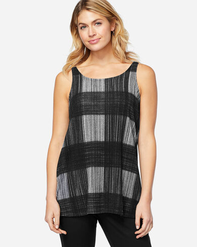 A-LINE TANK TOP, BLACK/GREY, large
