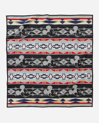 DISNEY'S MICKEY THROUGH THE YEARS BLANKET, GRAY MULTI, large