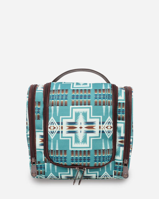 HARDING DELUXE TOILETRY BAG IN AQUA