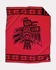 RAVEN BLANKET, RED / BLACK, large