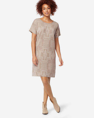HARDING MERINO SWEATER DRESS IN TAUPE/SANDSHELL