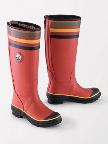 ALTERNATE VIEW OF NATIONAL PARK TALL RAIN BOOTS IN RAINIER RED