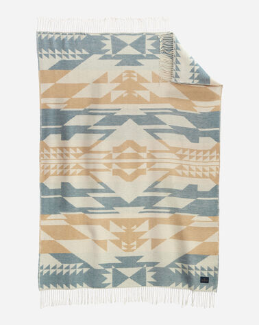 FOSSIL SPRINGS COTTON THROW IN BLUSH MULTI