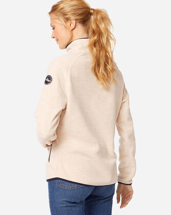 ADDITIONAL VIEW OF WOMEN'S FLEECE MOCKNECK IN IVORY HEATHER