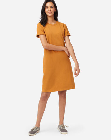 DESCHUTES TEE DRESS IN GOLD HEATHER