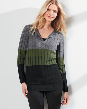 COLORBLOCK PULLOVER TUNIC, , large