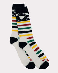 NATIONAL PARK MERINO JACQUARD CREW SOCKS