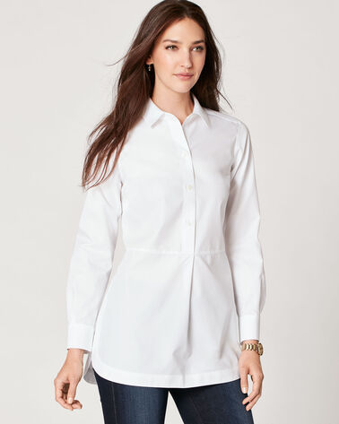NO-IRON TUNIC, WHITE, large
