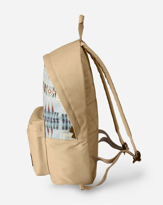 ALTERNATE VIEW OF HARDING CANOPY CANVAS BACKPACK IN AQUA