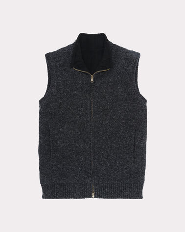 REVERSIBLE TERRITORY VEST, BLACK HEATHER, large
