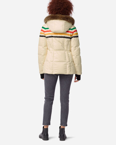 ADDITIONAL VIEW OF WOMEN'S SHORT APRES DOWN PUFFER IN GLACIER IVORY