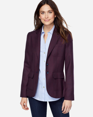 BRYNN GLEN PLAID WOOL BLAZER