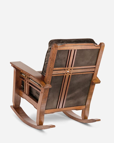 ADDITIONAL VIEW OF STAGECOACH LEATHER ROCKER IN STAGECOACH CHOCOLATE