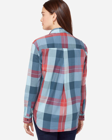 ADDITIONAL VIEW OF STEVIE PLEAT BACK SHIRT IN AMERICANA PLAID