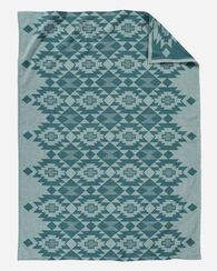 YUMA STAR ORGANIC COTTON BLANKET, SKY, large