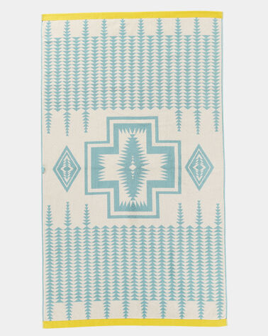 ADDITIONAL VIEW OF HARDING JACQUARD SPA TOWEL IN AQUA
