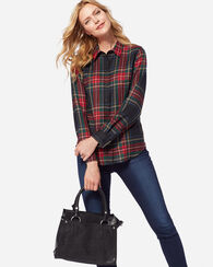 MAYA WOOL SHIRT, BLACK STEWART TARTAN, large