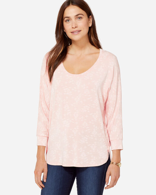 FLORAL TEE, CAMEO ROSE, large