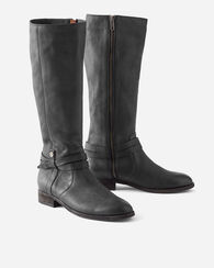 MELISSA BELTED TALL BOOTS, BLACK, large