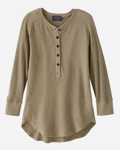 BETTER THAN BASIC HENLEY, DILL HEATHER, large