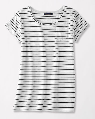 SUMMER STRIPE TEE, WHITE/BLACK, large