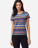 WOMEN'S DESCHUTES RINGER TEE IN NAVY STRIPE