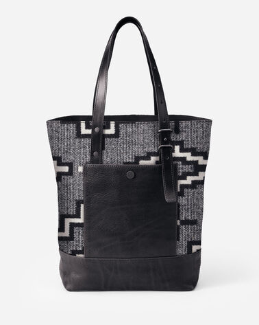 KIVA STEPS OPEN TOTE IN KIVA STEPS CHARCOAL