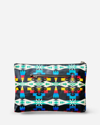 ADDITIONAL VIEW OF TUCSON CANOPY CANVAS BIG ZIP POUCH IN BLACK/MULTI