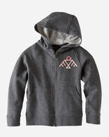 KIDS' GRAPHIC HOODIE IN CHARCOAL HEATHER