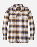 MEN'S FITTED BAJA BOARD SHIRT IN NAVY/BROWN OMBRE