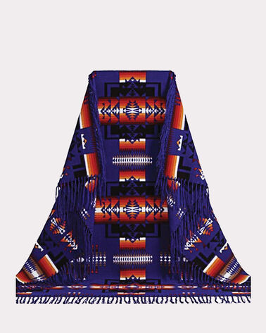 CHIEF JOSEPH SHAWL, BLUE, large