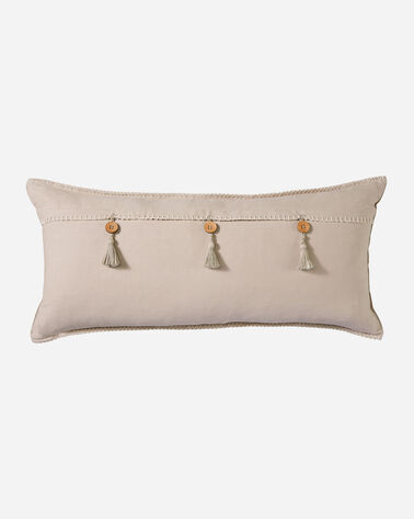 ALTERNATE VIEW OF HARDING EMBROIDERED HUG PILLOW IN TAUPE