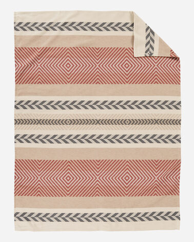 MOJAVE COTTON JACQUARD BLANKET, CLAY, large