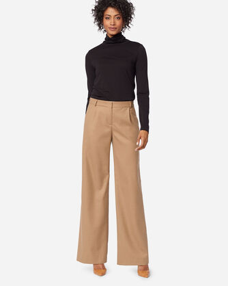 HOLLYWOOD AIRLOOM WOOL FLANNEL PANTS IN CAMEL MIX