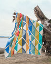 ADDITIONAL VIEW OF SERRADO TOWEL FOR TWO IN GREEN MULTI