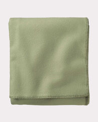ECO-WISE WOOL SOLID BLANKET, SAGE, large