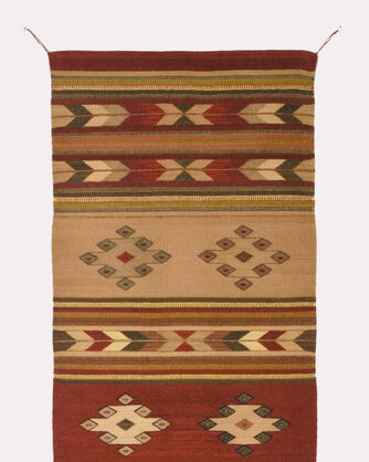 ADDITIONAL VIEW OF CLAY CANYON RUG IN RUST/BEIGE/BROWN