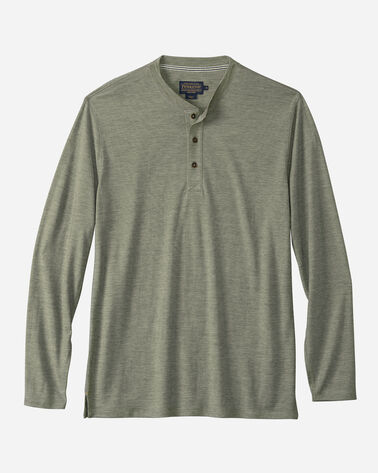 OUTDOOR MERINO HENLEY, MOSSY GREEN, large