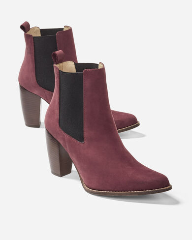 SKY HIGH HEEL ELASTIC BOOTS, BORDEAUX, large