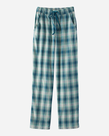MEN'S FLANNEL PAJAMA PANTS IN BLUE/TEAL PLAID