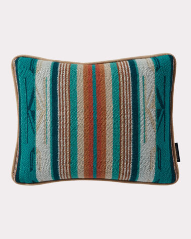CHIMAYO TOSS PILLOW, TURQUOISE STRIPE, large