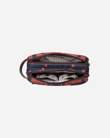 ALTERNATE VIEW OF SPIDER ROCK TOILETRY BAG IN RUST/NAVY