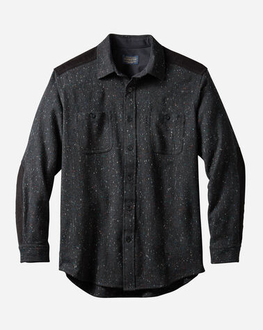 MEN'S WOOL DONEGAL OUTDOOR SHIRT IN BLACK DONEGAL