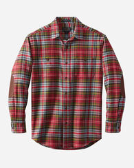 HAWTHORNE FLANNEL SHIRT, CALEDONIA RED TARTAN, large