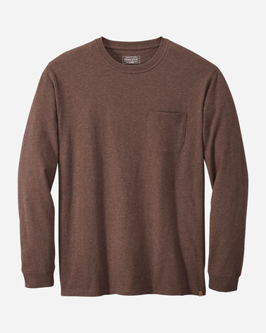 MEN'S LONG-SLEEVE DESCHUTES POCKET TEE IN BROWN HEATHER